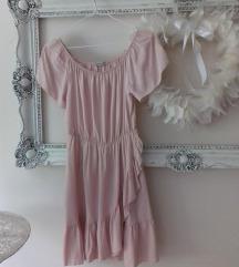 Rózsaszín fodros nyári ruha