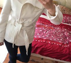 Fehér tavaszi szövet  kabát