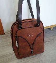 Új barna táska hátizsák