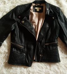 H&M fekete bőrkabát 38 (pk az árban!)