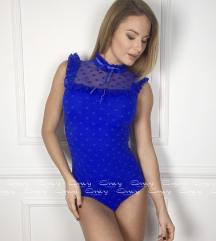 Envy kék, pöttyös body