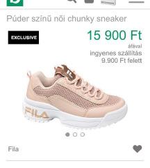 Fila Rosegold sneakers 41-es új!