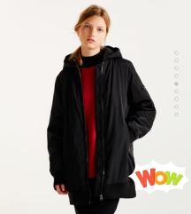 Alig használt Fekete hosszú téli kabát