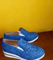 Platform strasszos slip on cipő