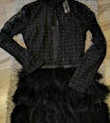 Fekete ruha mini XS-S