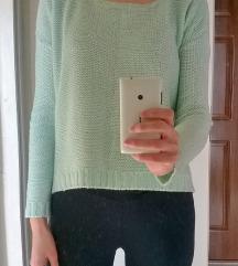 AMISU menta kötött pulcsi