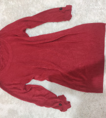F&F piros pulóver