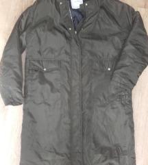 Pull&Bear khaki hosszú kabát,m