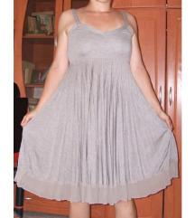 Újszerű rakott, állítható pántos ruha S/M
