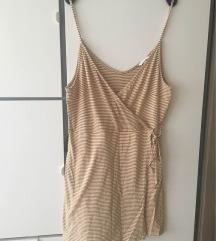 H&M Barna csíkos pántos nyári ruha L-XL 44-46