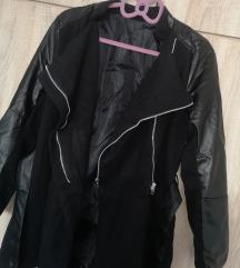 Fekete, átmeneti kabát