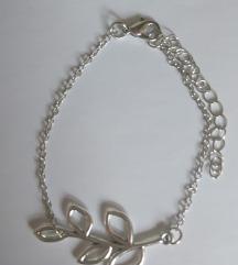 ÚJ ezüst színű faág bizsu karkötő