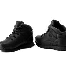 Timberland euro sprint black fekete bőr bakancs