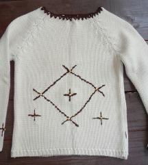 S - Világos kötött pulcsi, pulóver