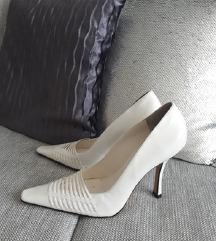 Fehér valódi bőr cipő, akár esküvőre