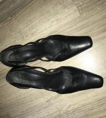 Bőr klasszikus kissarkú cipő