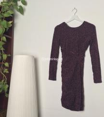 Bershka bordó ruha