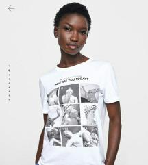 Zara szobor mintás póló