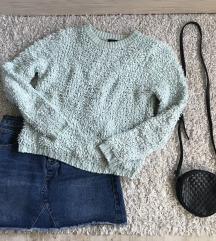 Mentazöld pulóver