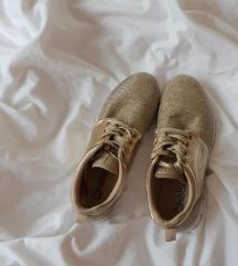 37-es arany csillogós sportcipő