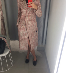 Új H&M pirosas tweed szövet kabi 36 S
