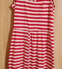 Piros csíkos nyári ruha