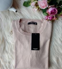 Új, címkés Mango nude kötött pulóver M