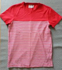 L - Cedarwood csíkos piros póló, férfi, fiú