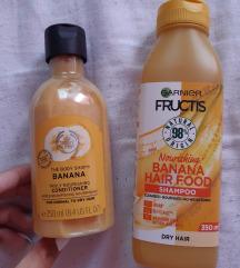 Uj TBS bananos balzsam-szett hajra