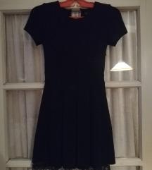 ZARA fekete elegáns ruha