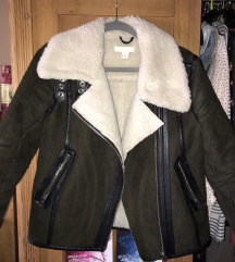 H&M khaki téli kabát