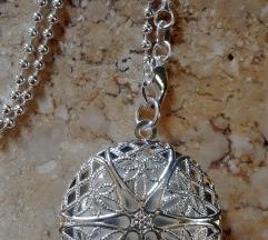 925 sterling ezüst csipkés szelencés nyaklánc