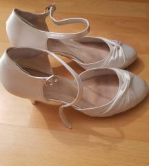 Menyasszonyi fehér szatén cipő, 40, szinte új