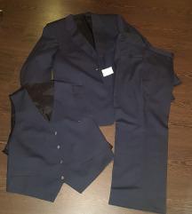3 részes új kék férfi öltöny