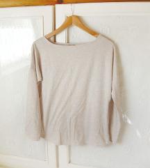 ✿ Drapp & ezüst hosszú ujjú póló
