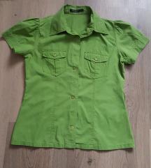Fűzöld rövid ujjú ing (36)