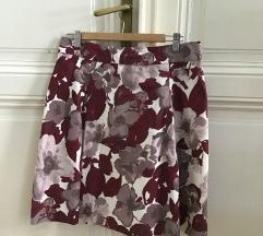 H&M burgundi virágos szoknya 42-es