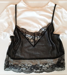 'T-shirt+Lace overlay' (S)