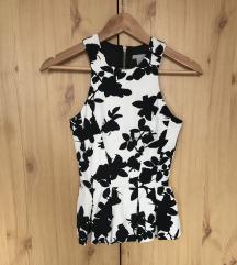 H&M fekete-fehér mintás blúz