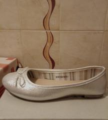Ezüst balerina cipő CCC