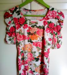 Rózsás romantikus póló felső