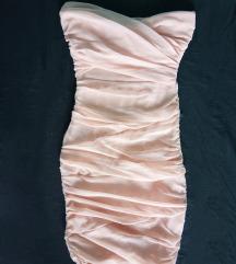 Púder színű alkalmi ruha