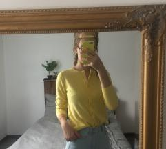 Sárga kardigán