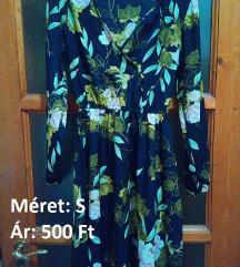 Virág mintás kék ruha