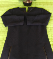 Reserved elegáns sötétkék szövet ruha