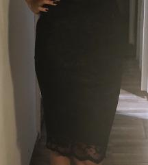 Legalacsonyabb ár❕Boohoo fekete csipkés ruha
