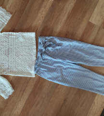 Zara új csipke felső, Capri nadrág s méret!