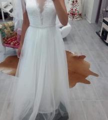Kétrészes menyasszonyi ruha (body+szoknya)