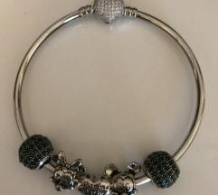Pandora Style karkötő + 5 charm