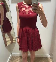 Bordó elegáns ruha